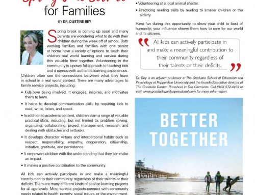 Talega Life March 2017 Issue – Spring Time Service for Families